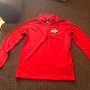 Nike Ohio State - half zip, dry fit pullover.